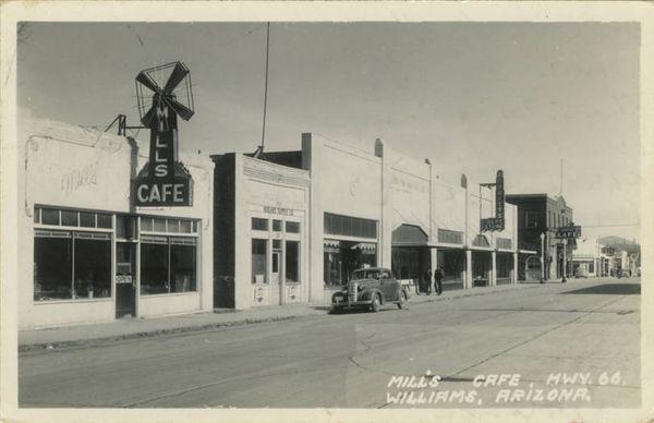 Williams, Arizona - Mill's Cafe Route 66