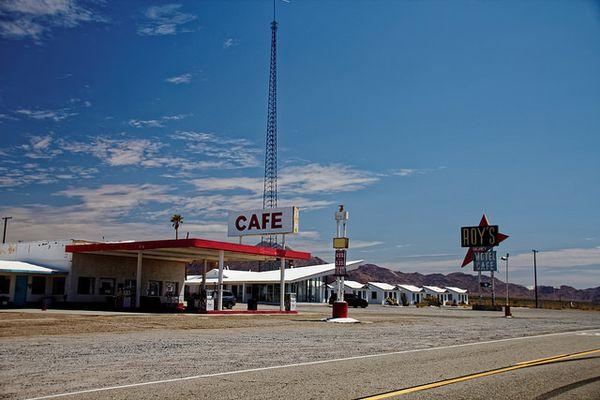Route 66 - Roy's Cafe à Amboy, Californie