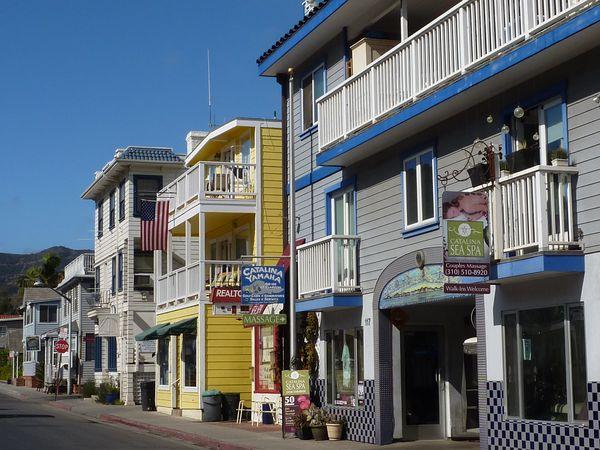 Architecture colorée d'Avalon Santa Catalina Island