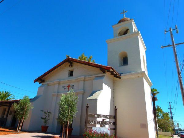 Réplique de la Mission Santa Cruz Californie