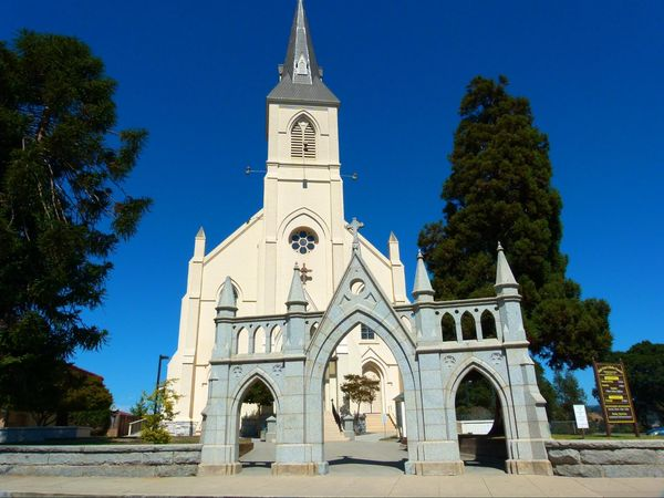 L'église néo-gothique Santa Cruz Californie