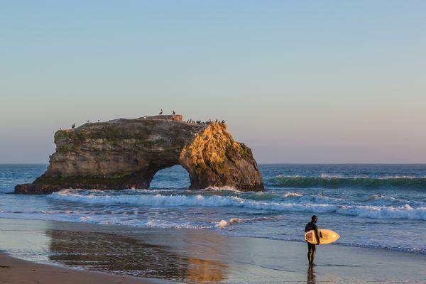 Rock Arch Natural Bridges State Beach Santa Cruz