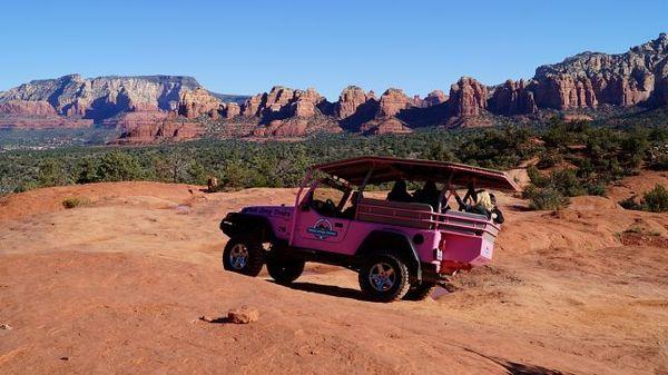 Pink Jeep Broken Arrow Sedona