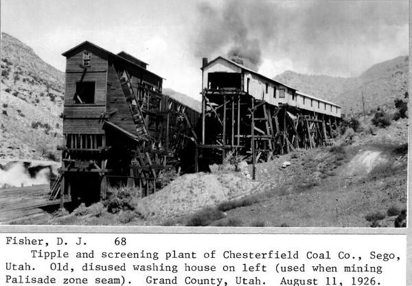Chesterfield Coal Screening Plant, Sego, 11 août 1926
