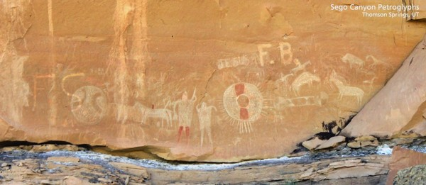 Sego Canyon Petroglyphes Barrier Style Panel Utah