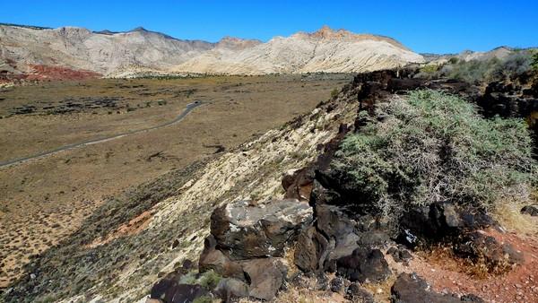 Vue vers le nord Canyon overlook Utah