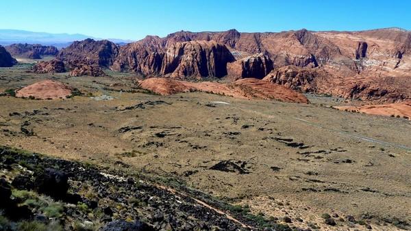 Vue vers le sud Canyon overlook Utah