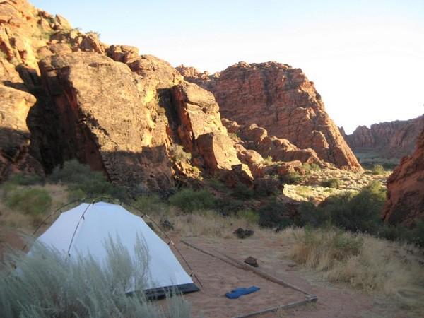Un emplacement du camping de Snow Canyon