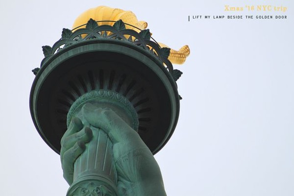 La torche de la Statue de la Liberté