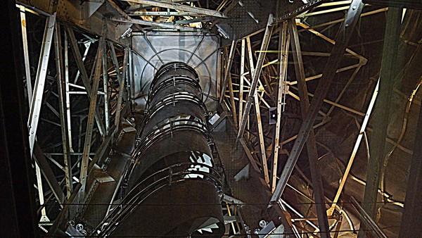 Escalier d'accès à la couronne de la Statue de la Liberté