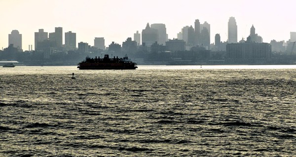 Le ferry de Staten Island au petit matin