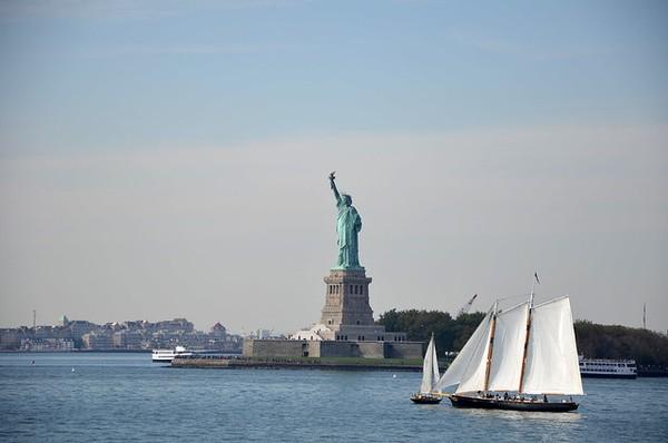 Statue de la Liberté vue depuis le ferry de Staten Island