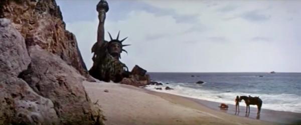 La Statue de la Liberté dans le film La Planète des Singes