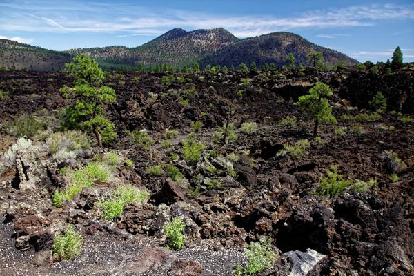 A'a Trail Sunset Crater Volcano Arizona