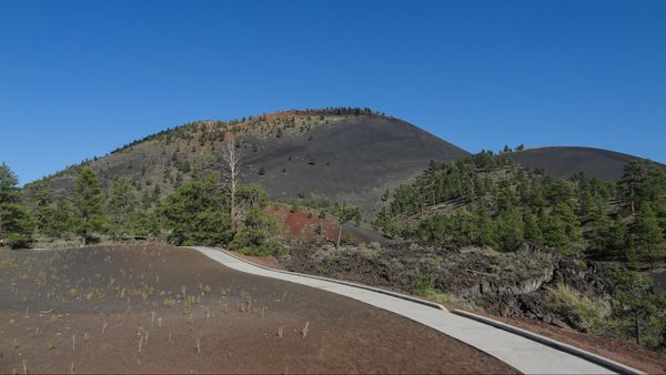 Lava Flow Trail Sunset Crater Volcano