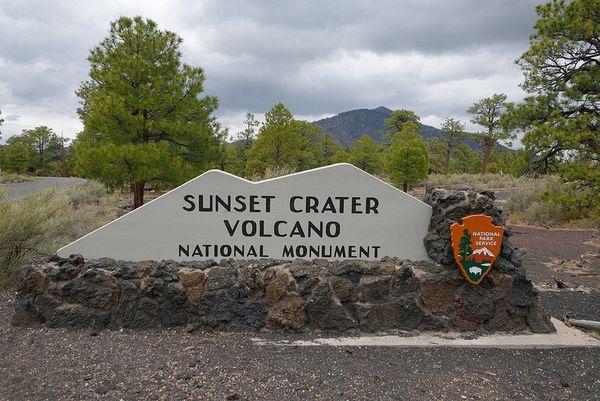 Entrée du parc Sunset Crater Volcano National Monument Arizona