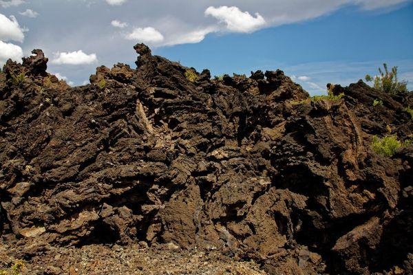 Blocs volcaniques Sunset Crater Volcano Arizona