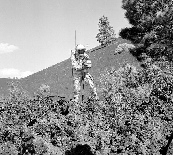 Entrainement mission Apollo au Sunset Crater Volcano en Arizona