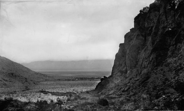 Palm Springs view from Tahquitz Canyon 1900