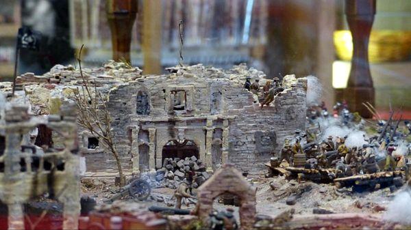 Une section du diorama Boutique souvenirs The Alamo San Antonio