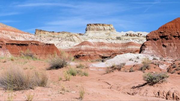 Couches géologiques Toadstool Hoodoos Utah
