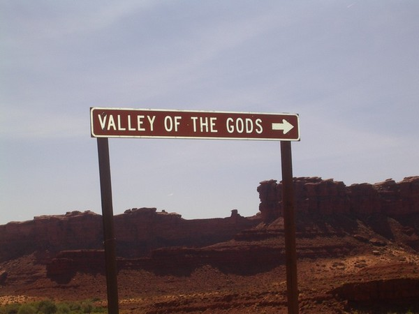 Panneau indicateur Valley of the Gods