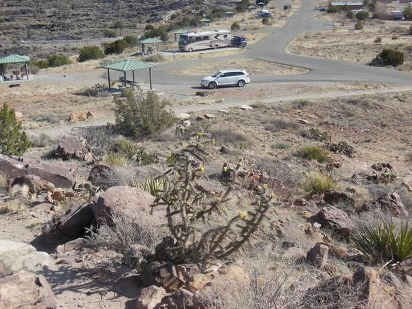 Vue d'une partie du site depuis le monticule Valley of Fires