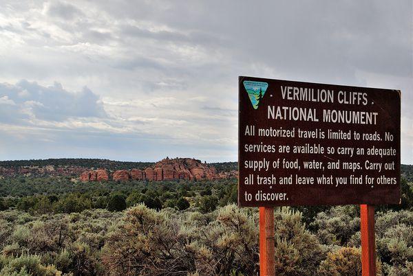 Entrée Vermilion Cliffs National Monument