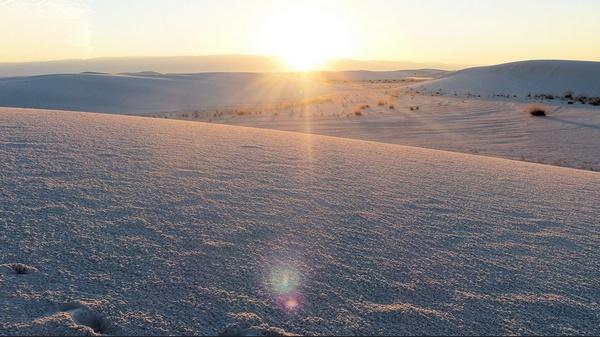 Coucher de soleil à White Sands