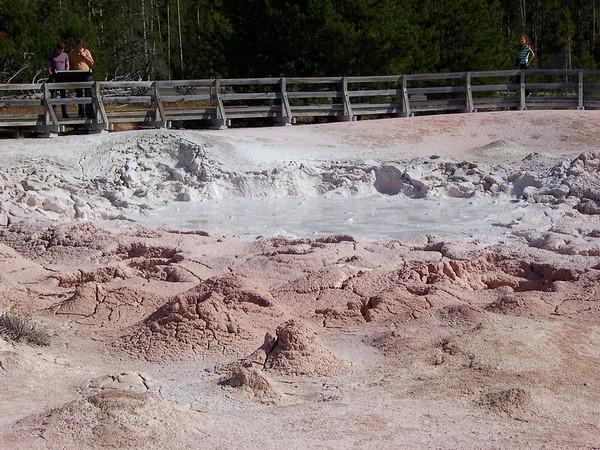 Un bassin de boue Yellowstone