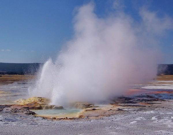 Clepsydra Geyser Yellowstone