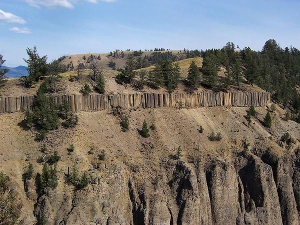 Colonnes de basalte Yellowstone