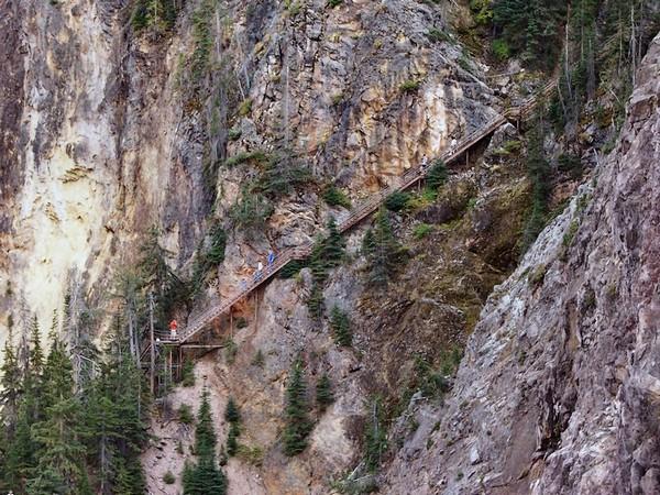 Le fameux escalier vu depuis la North Rim Yellowstone