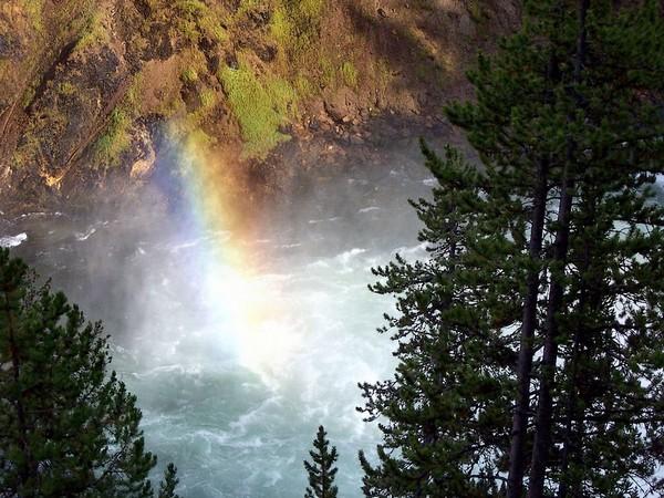 Brink of Upper Falls Yellowstone