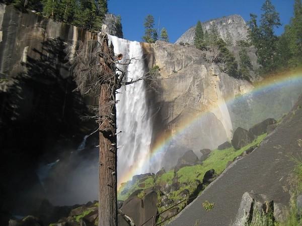 Aux pieds de Vernal Fall Yosemite