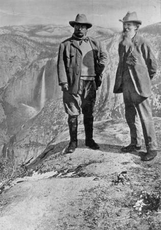 John Muir & President Roosevelt - Glacier Point - 1903