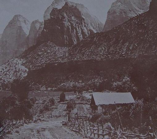 Ranch Crawford à Zion Canyon aux alentours de 1910