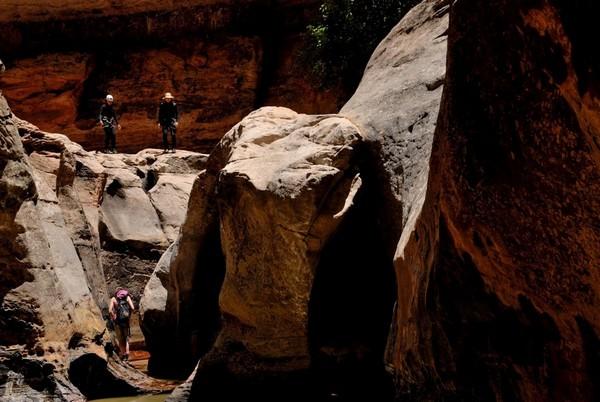Des amateurs de canyoning Subway Zion NP