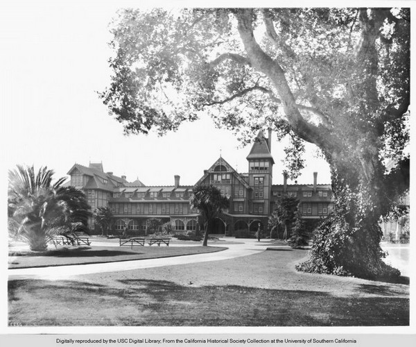 Exterior view of the Hotel Del Monte , Monterey, circa 1900-1903