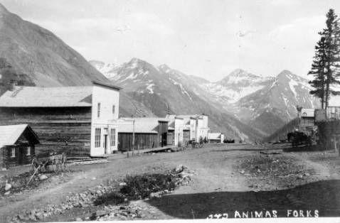 Animas Forks entre 1876 et 1900 Denver Public Library, Digital Collections
