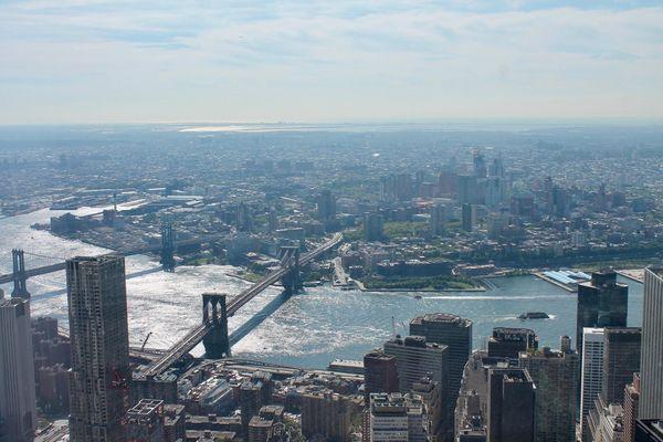 Brooklyn Bridge vu depuis le sommet du One World Trade Center