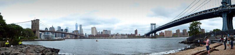 Panoramique Brooklyn Bridge Manhattan Bridge