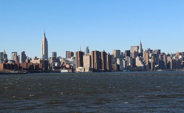 Vue depuis l'East River State Park New York
