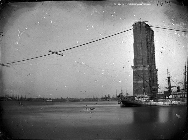 Construction of Brooklyn Bridge, ca. 1872-1887