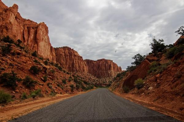 Desert Varnish Long Canyon Burr Trail Road Utah
