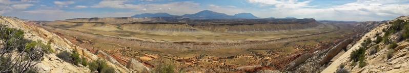 Panorama Waterpocket Fold Burr Trail Road Utah