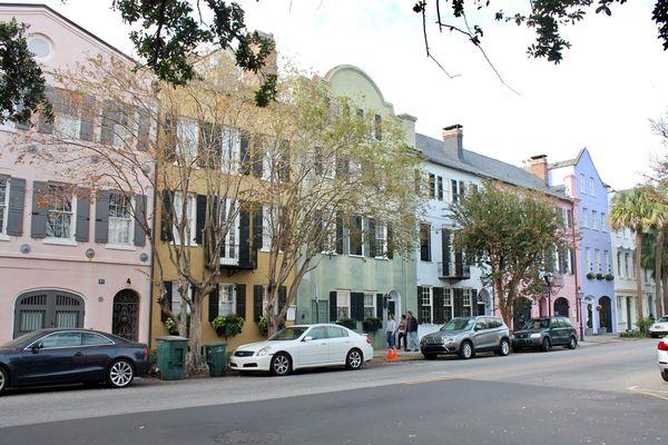 Rainbow Row Charleston Caroline du Sud