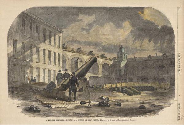 Fort Sumter avant le bombardement des 12 et 13 avril 1861 Charleston