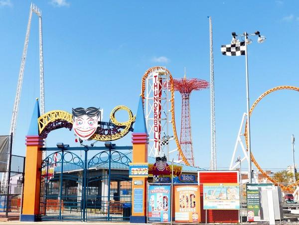 Entrée Luna Park Coney Island Brooklyn New York USA