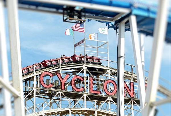 Cyclone roller-coaster Luna Park Coney Island Brooklyn New York USA
